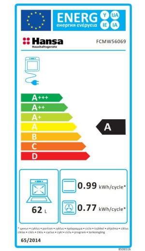 Aragaz Hansa FCMW56069 clasa energetica