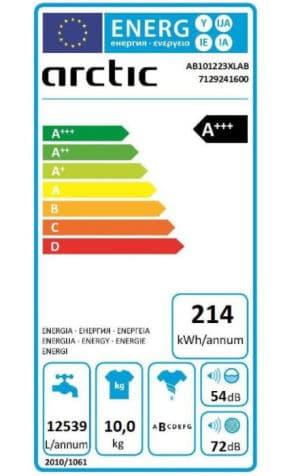 Arctic AB101223XLAB clasa energetica