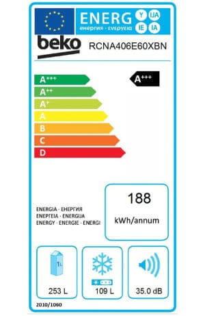 Beko RCNA406E60XBN clasa energetica