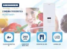 Combina frigorifica Heinner HC-H273WDF