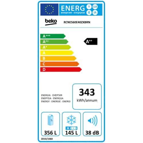 Combina frigorifica Beko RCNE560E40ZXBRN consum curent electric