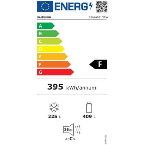 Side By Side Samsung RS67A8810WW EF clasa energetica F