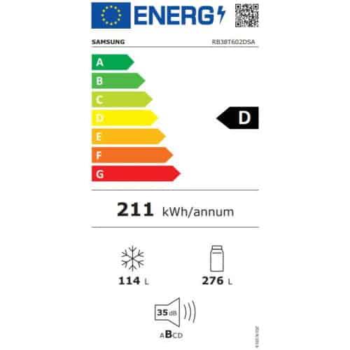 Samsung RB38T602DSA clasa energetica D