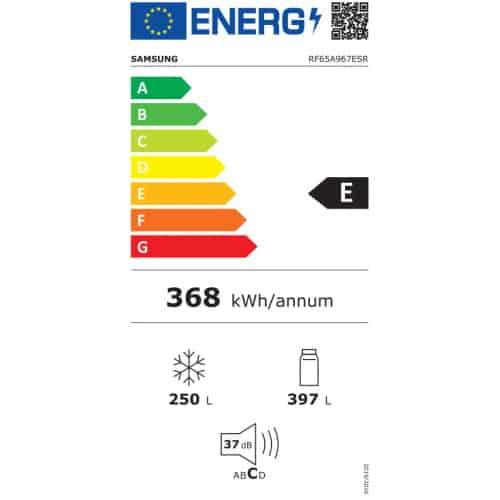 Samsung RF65A967ESR EO clasa energetica E