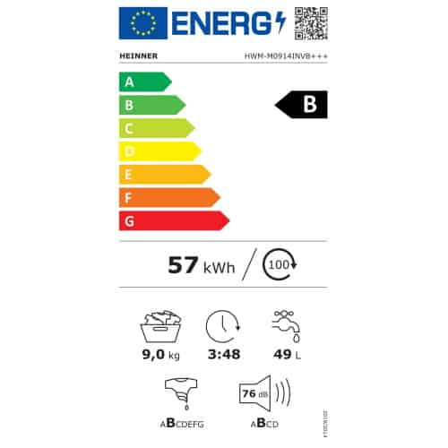 Heinner HWM-M0914INVB clasa energetica